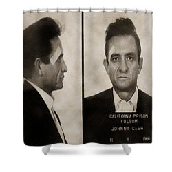 J Cash Shower Curtain by David Millenheft