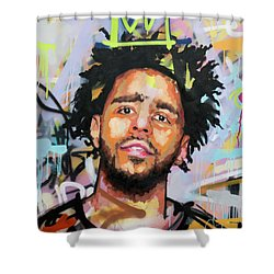 J Cole Shower Curtain by Richard Day