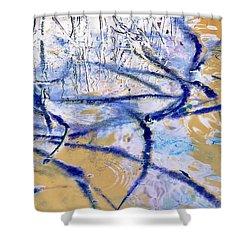 Blue Mangrove Shower Curtain