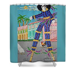 J Ouvert Morning  Shower Curtain