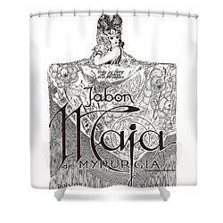 Shower Curtain featuring the digital art Jabon by ReInVintaged