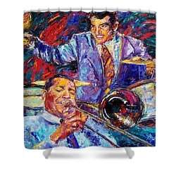 Jack And Gene Shower Curtain by Debra Hurd