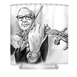 Jack Benny Shower Curtain by Greg Joens