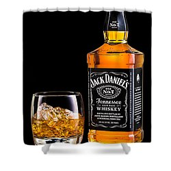 Jack Daniel's Shower Curtain by Mihai Andritoiu