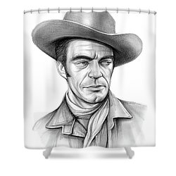 Cowboy Jack Elam Shower Curtain