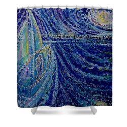 Ghost Ship Shower Curtain by Holly Carmichael