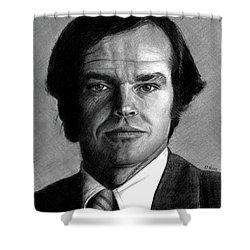 Jack Nicholson Portrait Shower Curtain