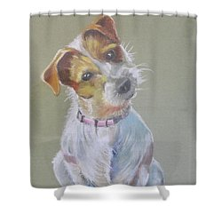 Jack Russell Watching You Shower Curtain