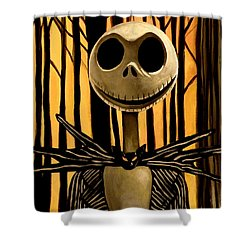 Jack Skelington Shower Curtain by Tom Carlton