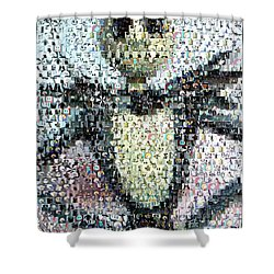 Jack Skellington Mosaic Shower Curtain by Paul Van Scott