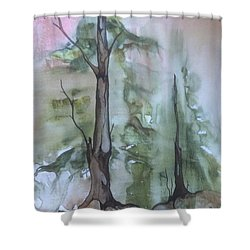 Shower Curtain featuring the painting Jackfish Lake by Pat Purdy