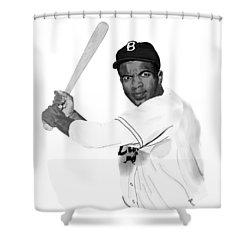 Jackie Robinson Shower Curtain