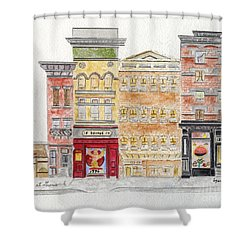 Jack's Coffee On West 10th Street In Greenwich Village Shower Curtain