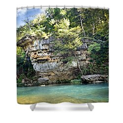 Shower Curtain featuring the photograph Jacks Fork Bluff 1 by Marty Koch