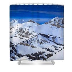 Jackson Hole, Wyoming Winter Shower Curtain by Serge Skiba