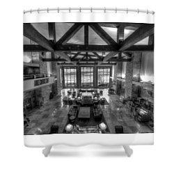 Jackson Lake Lodge Grand Tetons B W Shower Curtain