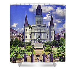 Jackson Square Shower Curtain by Dennis Cox WorldViews