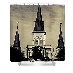 Jackson Square - Split Tone Shower Curtain