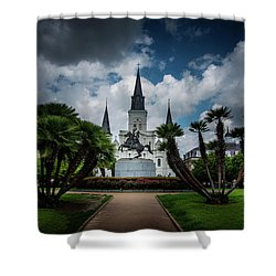 Jackson Square Sunrise Shower Curtain