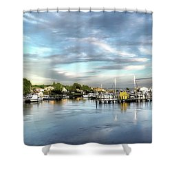 Hampton Bays Marina Shower Curtain