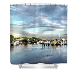 Hampton Bays Marina Shower Curtain