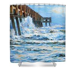 Jacksonville Beach Pier Shower Curtain