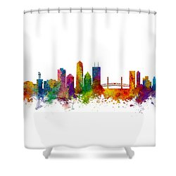 Jacksonville Florida Skyline Shower Curtain