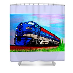 Jacob The Train Shower Curtain
