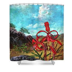 Jacobean Lily Of Mexico Shower Curtain