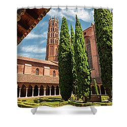 Shower Curtain featuring the photograph Jacobin Convent In Toulouse by Elena Elisseeva