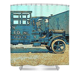Jacobs Transfer Company 1917 White Truck Shower Curtain