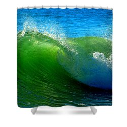 Jade Cascade Shower Curtain by Dianne Cowen