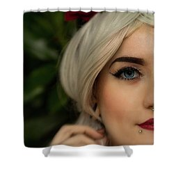 Jade Close Crop Shower Curtain