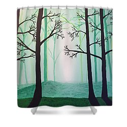 Jaded Forest Shower Curtain