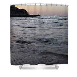 Jaffa Port Shower Curtain by Shlomo Zangilevitch