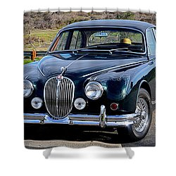 Shower Curtain featuring the photograph Jag by AJ Schibig