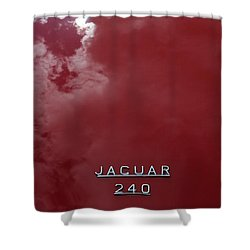 Shower Curtain featuring the photograph Jag In The Clouds by Gary Bridger