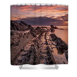 Jagged Rocks Shower Curtain