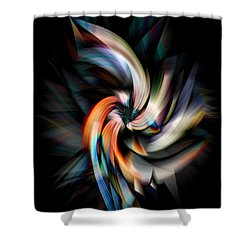 Jagged Twirl Shower Curtain