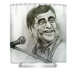 Jagjit Singh Shower Curtain by Mayur Sharma