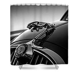 Shower Curtain featuring the digital art Jaguar Mascot by Douglas Pittman