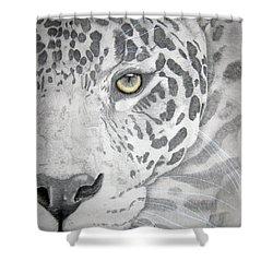 Shower Curtain featuring the drawing Jaguar by Mayhem Mediums
