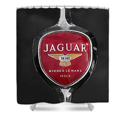 Jaguar Medallion Shower Curtain