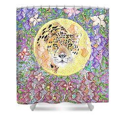 Jaguar Night Shower Curtain