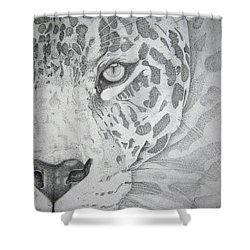 Jaguar Pointillism Shower Curtain