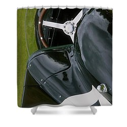 Jaguar Racing Car Smart Phone Case Shower Curtain by John Colley