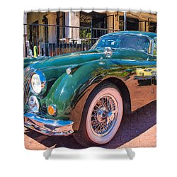 Shower Curtain featuring the photograph Jaguar Xk Classic by Dan McManus