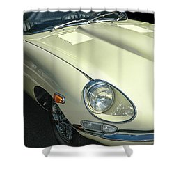 Jaguar Xke Roadster Shower Curtain by Dave Mills
