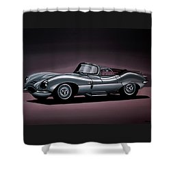 Jaguar Xkss 1957 Painting Shower Curtain by Paul Meijering
