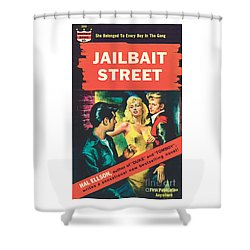 Shower Curtain featuring the painting Jailbait Street by Ray Johnson